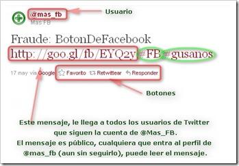 Muestra de Tweet de ejemplo MasFB.com