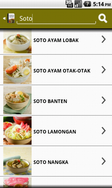 Aneka Resep Soto - screenshot