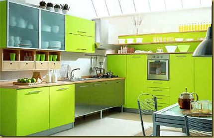green-painted-kitchen-cabinets