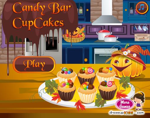 キャンディーバーのカップケーキ