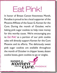 paradise bakery breast cancer awareness