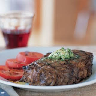Steaks with Herb Butter.