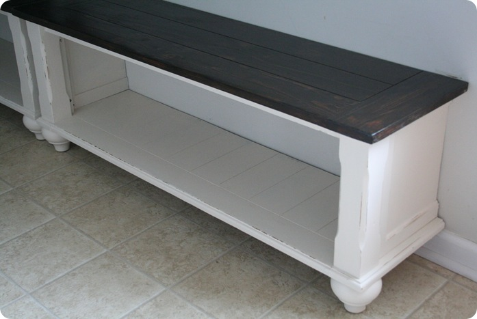 Unique cut up table = entryway benches | 320 * Sycamore WK62