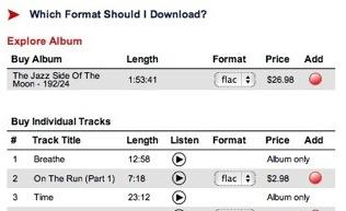 Lossless Music Store: HDtracks