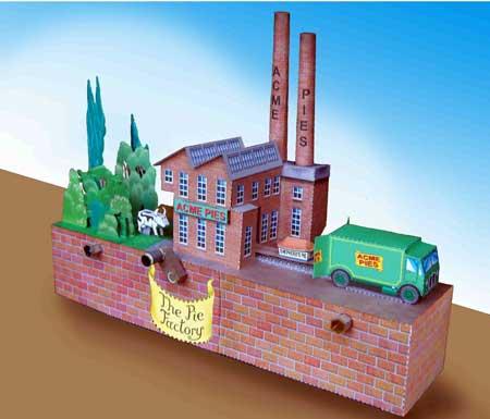 The Pie Factory Papercraft Automata ~ Paperkraft.net ...