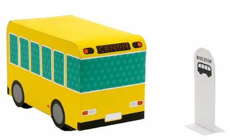 Elastic-powered Bus Papercraft