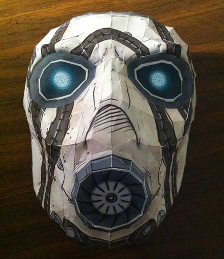 Borderlands Psycho Bandit Papercraft Mask