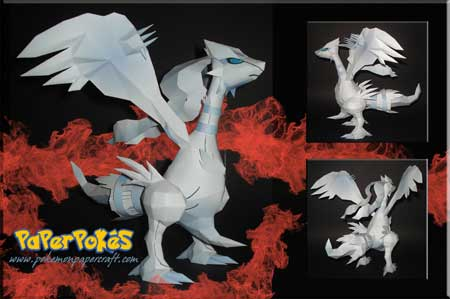 Pokemon Reshiram Papercraft