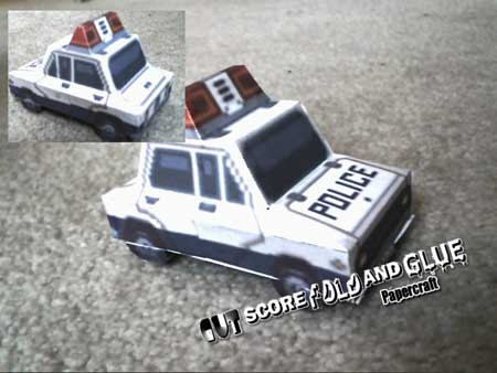 Mega Man Legends Police Car Papercraft