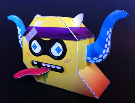 De Bliksems Monster Maker Paper Toys