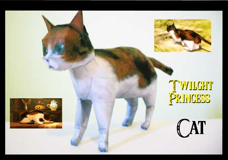 Twilight Princess Cat Papercraft
