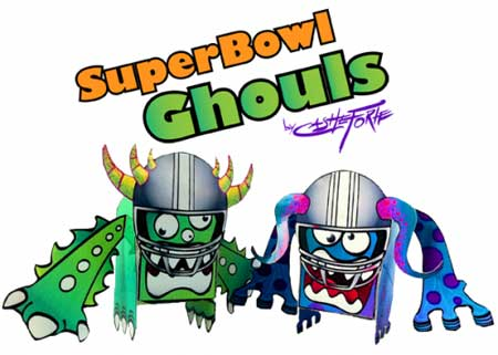 Super Bowl XLV Papercraft SuperBowl Ghouls