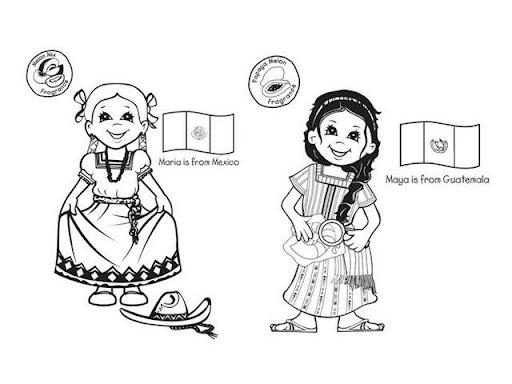 Dibujos De NiÑos Por Nacionalidades: Dibujo De Nacionalidades Para Colorear