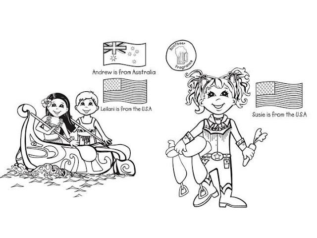 Dibujo De Nacionalidades Para Colorear: Desenhos Crianças Do Mundo Bandeiras