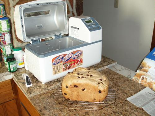 Raisin bread plus bread maker