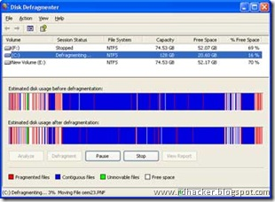 Defragment Multiple drives on Windows - rdhacker.blogspot.com