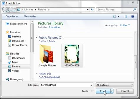 Select Picture. Pilih gambar atau image border