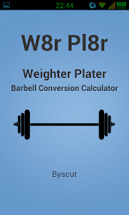 Barbell Calculator: W8r Pl8r- screenshot thumbnail
