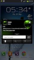 Screenshot of Alien Theme GO SMS