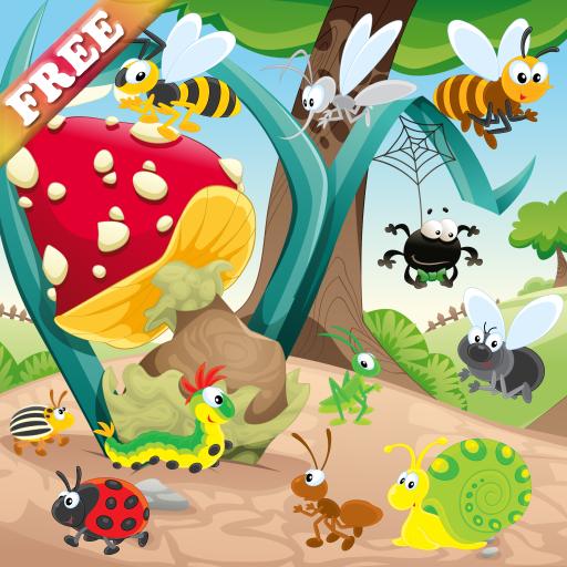 昆虫和蠕虫游戏的孩子 发现大自然 游戏为幼儿 教育 App LOGO-APP試玩