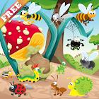 昆虫和蠕虫游戏的孩子 发现大自然 游戏为幼儿 幼儿游戏 icon