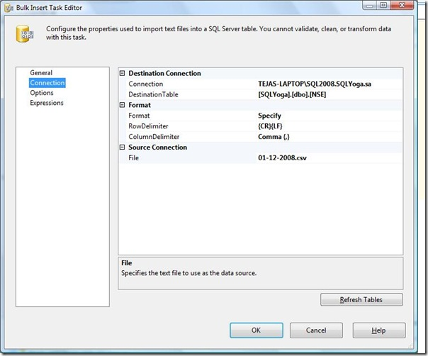 SQL SERVER SSIS: BULK INSERT Task ~ SQL Yoga