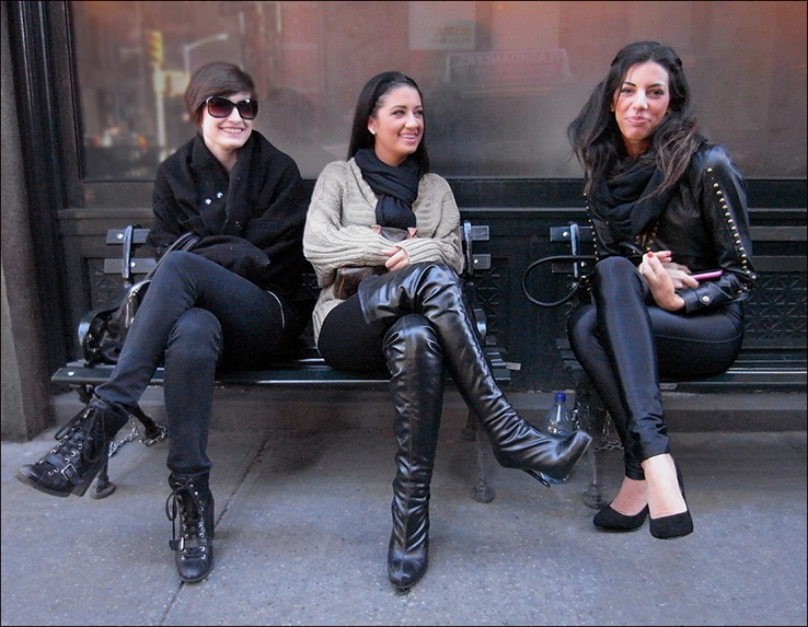 balthazar w 3 leggings leather thigh high boots sitting