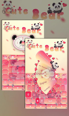Cute Bear GO Keyboard Theme 4.178.100.84 screenshot 408079