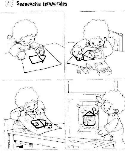 Dibujos Para Colorear De Secuencias Logicas Imagui