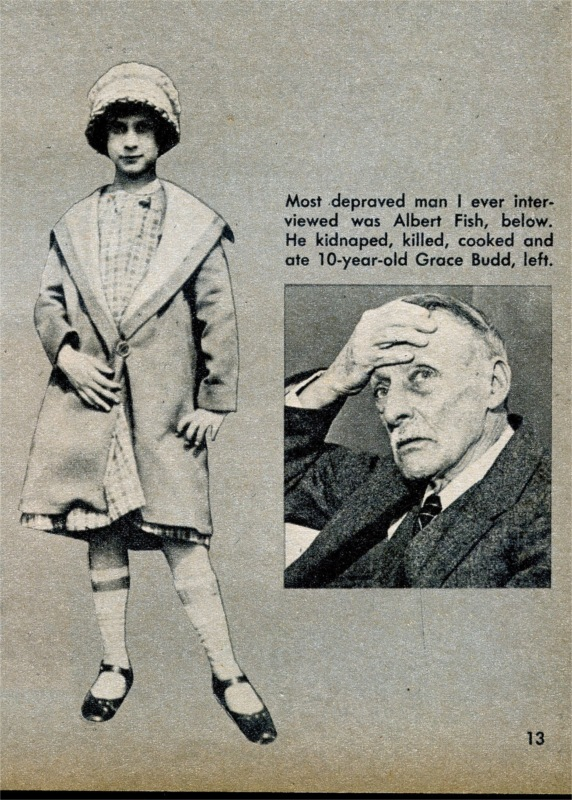 Men s Adventure Magazines Psycho killer cannibal Albert Fish vs