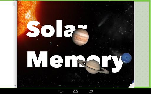 Solar Memory Game