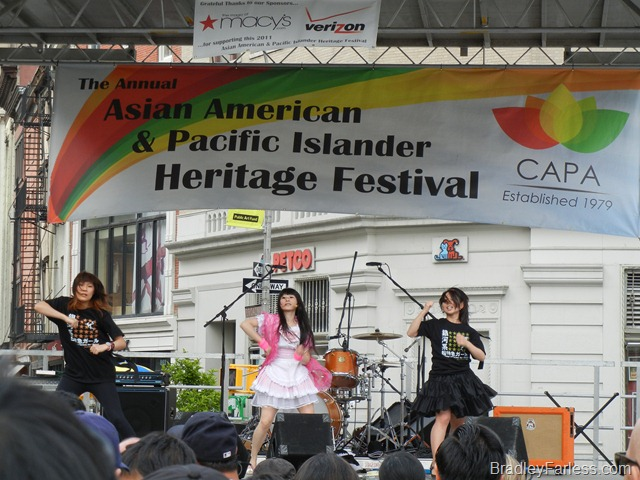 Reni onstage at the Annual Asian Culture celebration at Union Square, 2011.