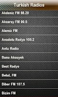 Screenshot of Turkish Radio Turkish Radios
