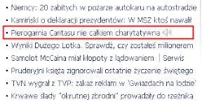 Adam Michnik, Gazeta Wyborcza, Caritas, pierogarnia, 4 listopada 2008, socjotechnika, propaganda