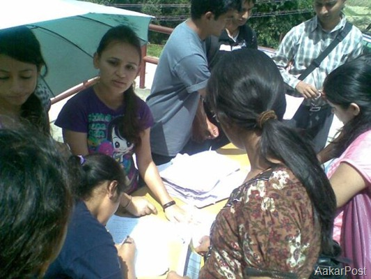 Signature Campaign for  Disappeared at Kathmandu University