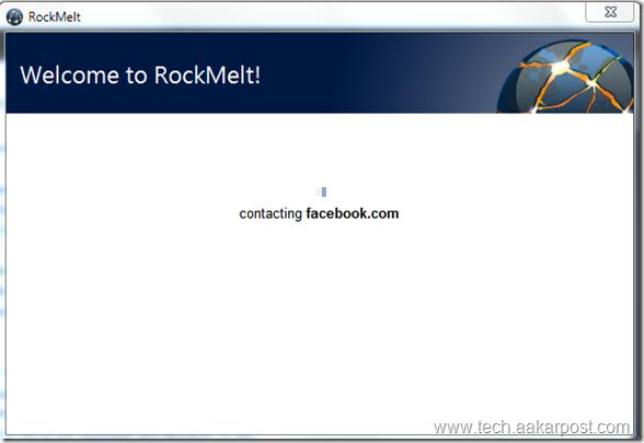 connecting RockMelt