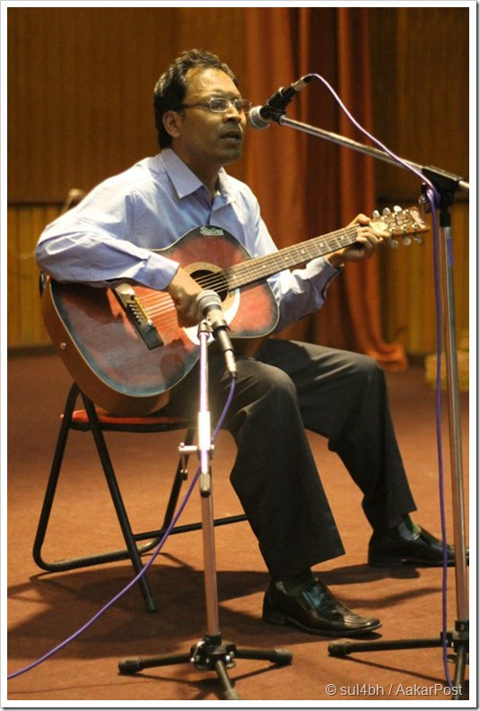 KU Faculty Prachandman Sir Singing a song