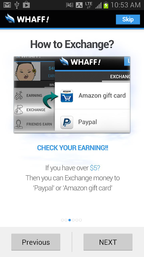 WHAFF Rewards - screenshot