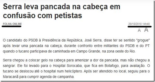 Serra foi agredido por petistas. Saiba tudo.