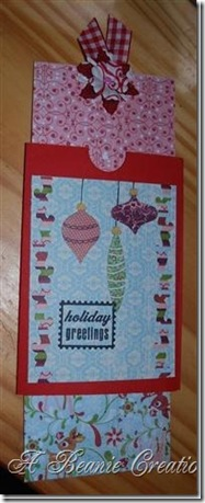 holiday greetings pull out tag