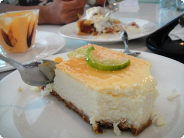 lemon baked cheese cake
