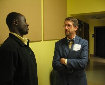 Silas Wanjala and Cliff Loesch in Wichita, Kansas