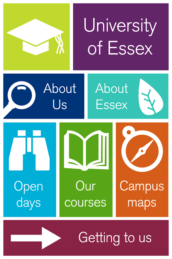 University of Essex app - screenshot