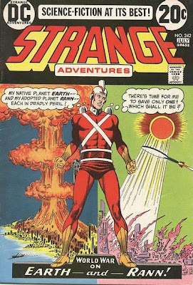 Strange Adventures #242, Adam Strange, giant magnifying glass, Carmine Infantino