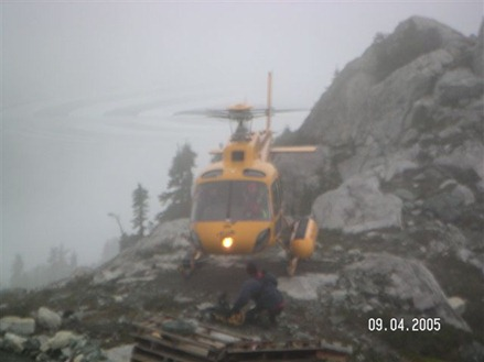 The author being dropped off near Golden Ears