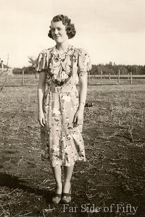 Evelyn Abbott  at the farm