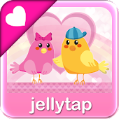 ♥ Cute Love Birds SMS Theme ♥