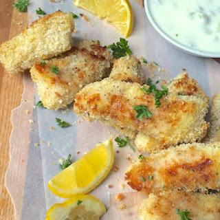Crispy Baked Fish Sticks with Homemade Tartar Sauce