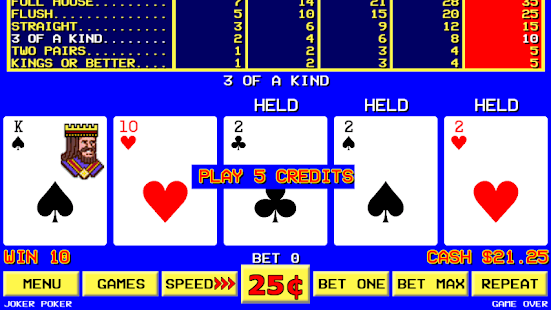Sin City Video Poker- screenshot thumbnail