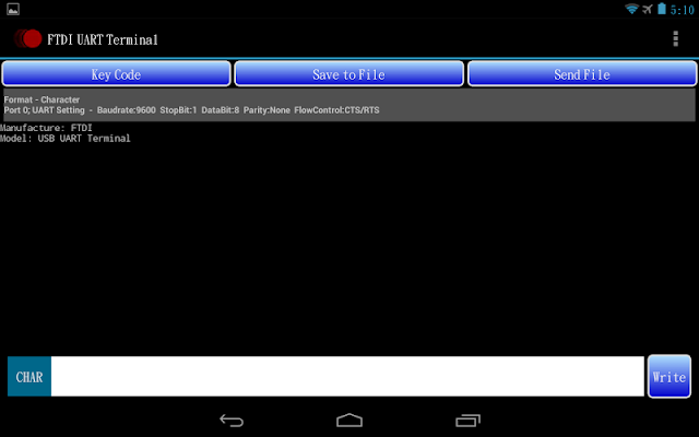 FTDI UART Terminal - screenshot